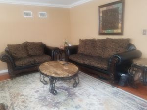 Living room set sofa, love seat, ottoman, tables for Sale in St. Petersburg, FL