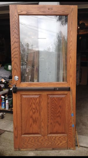 Oak exterior door for Sale in Portland, OR