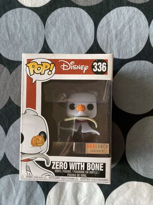 Funko Pop! Zero With Bone- Disney The Nightmare Before Christmas- Box Lunch Exclusive - #336 for Sale in Honolulu, HI