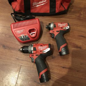Milwaukee M12 Fuel Hammer Drill And Impact Driver Combo Kit for Sale in Tucson, AZ