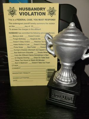 Fathers Day Trophy & Violation Gag Gift for Sale in Lincoln, NE