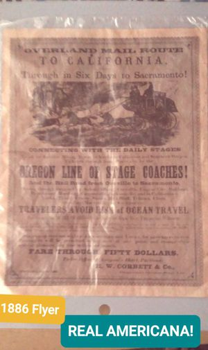 1886 Flyer. Kept in PLASTIC. TRUE AMERICANA!.. Best offer Takes it. - NO LOWBALL OFFEERS, TRADE FOR NINTENDOSWITCH- OR. for Sale in San Diego, CA