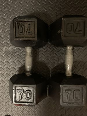 70lb Dumbbells for Sale in DeSoto, TX