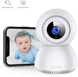 Victure 1080P FHD Baby Monitor with 2.4G WiFi Wireless IP Home Security Camera Indoor Surveillance Camera with Smart Sound Detection Motion Tracking for Sale in San Gabriel, CA