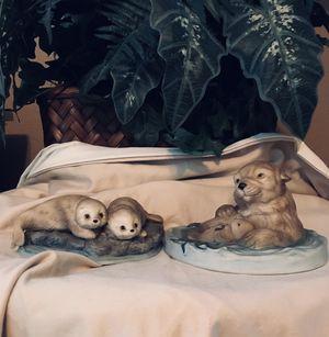 Hackett American Collectors Sea Otters Harp Seals Porcelain Figures for Sale for sale  Oak Glen, CA