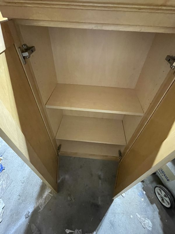 Maple Wall Cabinet With Shelves