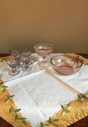 Nice Collection of Pink Depression Glass for Sale in Siler City, NC