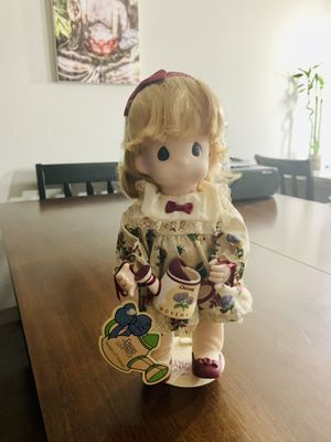 Precious Moment Porcelain November Month Doll New with Tag and stand for Sale in Pembroke Pines, FL