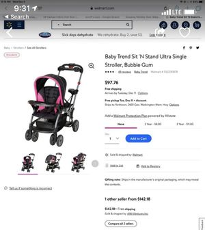 Baby trend sit and stand double stroller for Sale in Newport News, VA