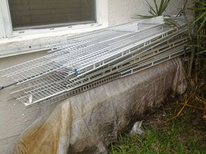 31 peice metal wire shelf shelves 12 inch wide sold as a lot only for Sale in Pompano Beach, FL