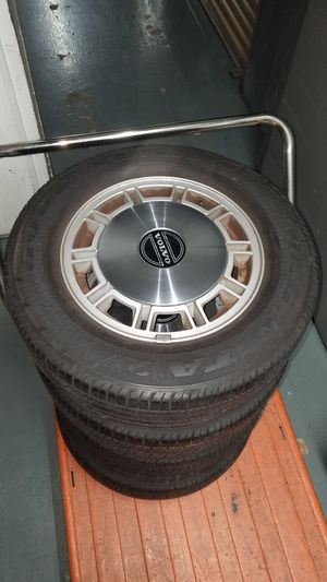 Goodyear Tires and Volvo rims, size 14 for Sale in Buena Park, CA