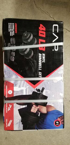 Dumbbells 40lb vinyl dumbell set for Sale in Rialto, CA
