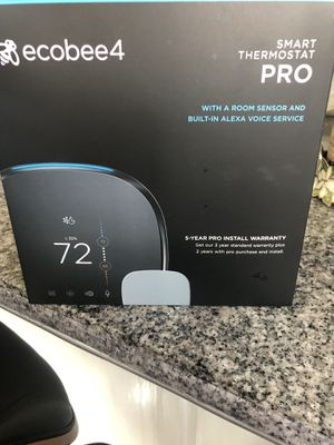 Ecobee4 smart thermostat PRO for Sale in West Valley City, UT