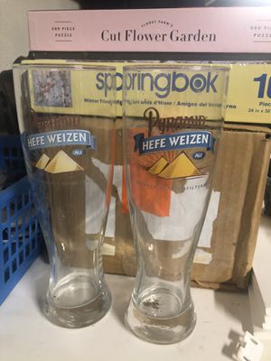 2 Hefe Weizen collectible beer glasses for Sale in Scottsdale, AZ