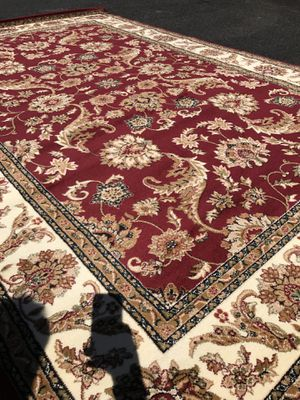 Brand new area rug size 8x11 nice red carpet Persian style rugs for Sale in Fairfax, VA