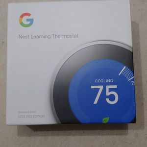 Buy New Thermostat With Installation Google Smart Wi/Fi Learning Thermostat for Sale in Kent, WA