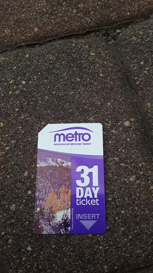 31 day bus pass for Sale in Colorado Springs, CO