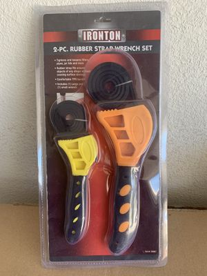Ironton 2-PC Rubber Strap Wrench Set for Sale in Odessa, TX