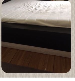 Bed frame, black-brown, full and box ,IKEA for Sale in Heidelberg, PA