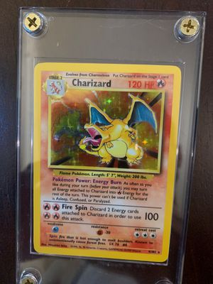 Base set CHARIZARD 4/102 NM-Mint HOLO pokemon for Sale in Fremont, CA