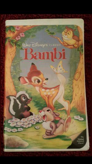 Walt Disney's Bambi Black Diamond Classic Red Signature 1989 VHS 942 for Sale in Mesa, AZ