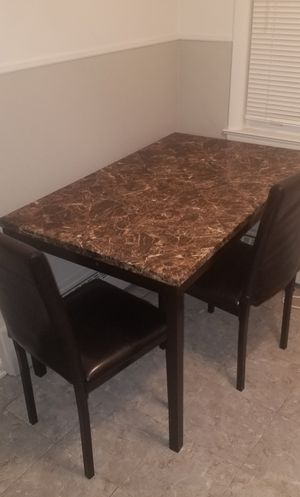 Brown Marble Like Table With 2 Chairs for Sale in Chicago, IL