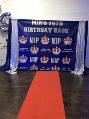 "As is - Custom Backdrop ""Mir's 16th Birthday Bash"" for Sale in Philadelphia, PA"