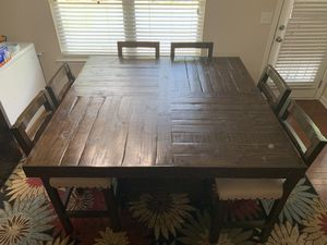 5' x 5' high table with 6 matching chairs for Sale in Fairburn, GA