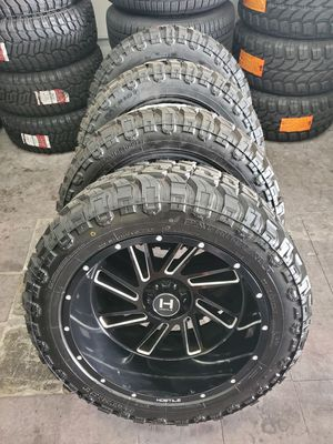 "22x12 Hostile Wheels and 35"" MT Tires for Sale in Orange, CA"