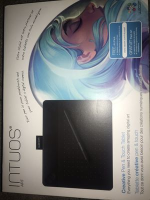 Wacom Black Small Intuos Art Touch Tablet and pen 🖊 🖥 CTH490AK for Sale in Santa Fe Springs, CA