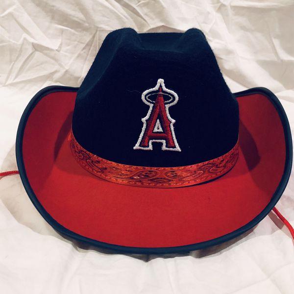 Angels baseball USA patriotic cowboy hat