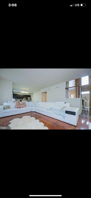 White leather couch for Sale in Smyrna, DE