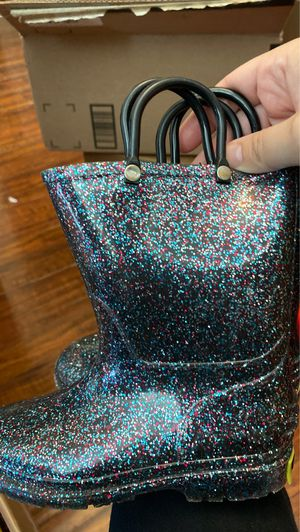 Western Chief Kids black glitter rain boots size 10 for Sale in Alhambra, CA