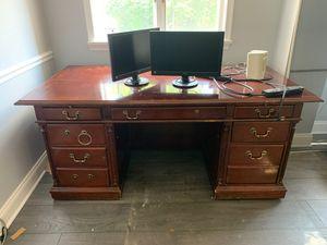 Wood office desk for Sale in Rockville, MD