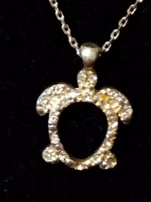 18inch designer necklace with turtle a cubic zirconia for Sale in Fort Worth, TX