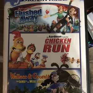 Two DVD Movies Chicken Run And Flushed Away for Sale in Elma, WA