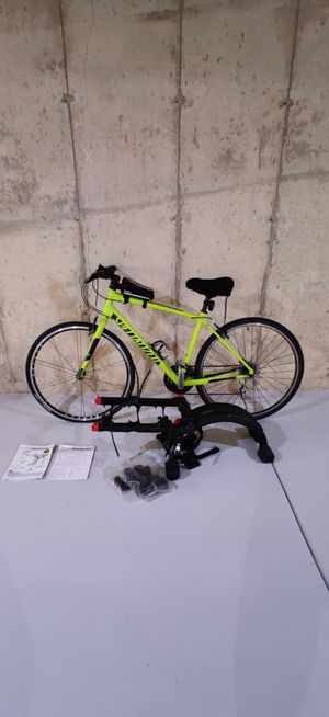 SPECIALIZED BIKE WITH YAKIMA QUICK BACK RACK *READ* for Sale in Wauconda, IL