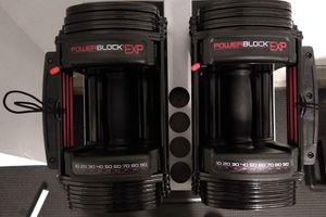 Powerblock 180 lbs (90 per) adjustable dumbbell (3 months old) for Sale in Mountain View, CA