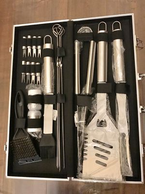 Brand New 20pc Stainless Steel BBQ Grill Tool Set for Sale in Lake Worth, FL