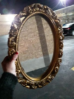 Antique look hanging mirror medium sized for Sale in Lombard, IL