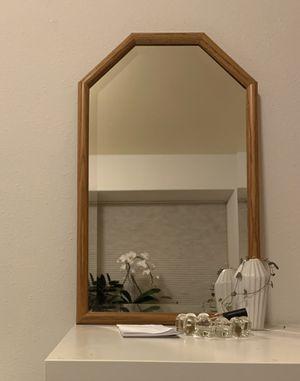 vintage boho oak mirror for Sale in Seattle, WA