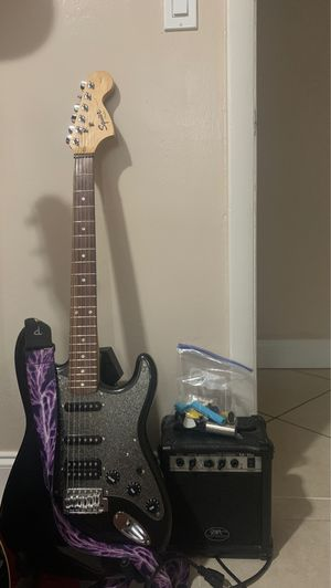 Fender Squire Affinity Strat Electric Guitar With Starter Accessories Kit, Amp, and Strap for Sale in Hollywood, FL