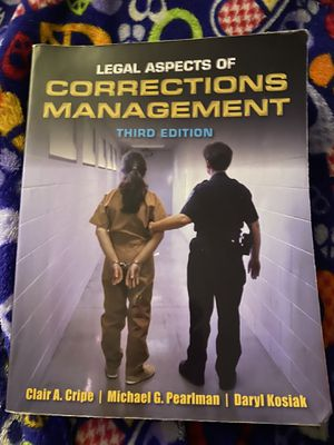 Legal Aspects of corrections Management for Sale in CA, US