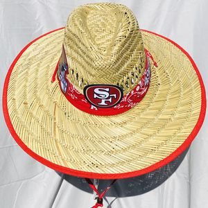 San Francisco 49ers straw hat (Great Gift 🎁) Same Day Shipping If Paid By 3pm (I Also Have Other Team's) for Sale in Merced, CA