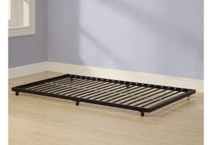 Black metal twin bed roll-out trundle frame J16- 1766 for Sale in St. Louis, MO