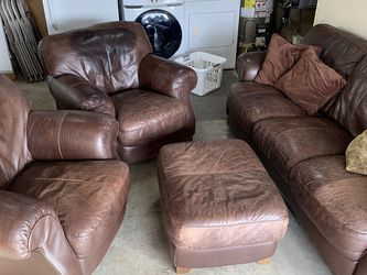 Leather Sofa and Chair Set for Sale in Portland,  OR