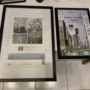 Set Of 2 Black Poster And Wall Frames - $15 Or Best Offer - 2 Sizes - Weston for Sale in Weston, FL