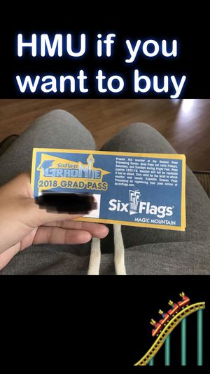 Six flags pass for Sale in Chico, CA