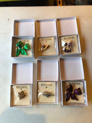 Rucinni Fine Brooches Swarovski crystals all NEW (6) for Sale in Manassas, VA