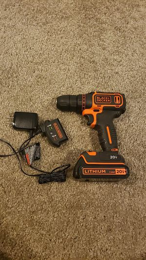 Black + Decker 20V Drill with charger for Sale in Batavia, OH